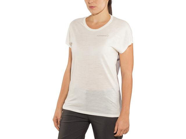 Norrøna Bitihorn Wool T-Shirt Femme, snowdrop